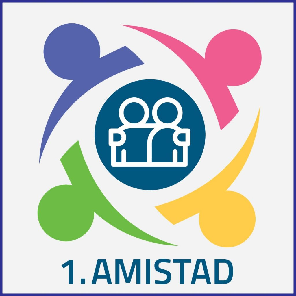 1 Amistad - Logo de actividad
